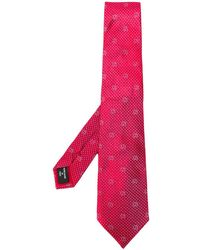 Giorgio Armani Cravate à motif géométrique - Rouge
