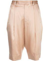 Fleur du Mal Slim-fit Bermuda Shorts - Natural