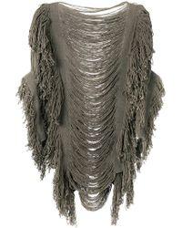 Caravana - Itza Poncho Knitted Top - Lyst