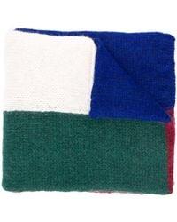 Plan C カラーブロック スカーフ - ブルー
