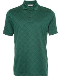 Gieves & Hawkes Embroidered Polo Top - Green