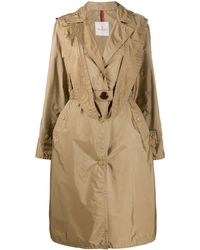 Moncler Hooded Trench Coat - Natural