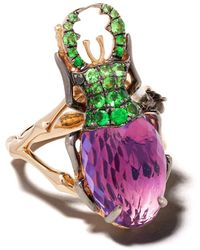 Annoushka 18kt Rose Gold Diamond Mythology Beetle Ring - Multicolor