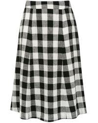 Osklen - Check Midi Skirt - Lyst