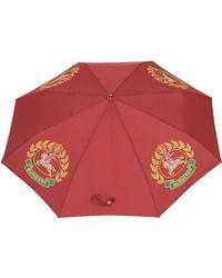 Burberry Складной Зонт С Принтом - Красный