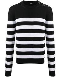 Balmain ストライプ セーター - ブラック