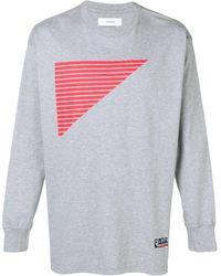 Facetasm カラーブロック スウェットシャツ - グレー