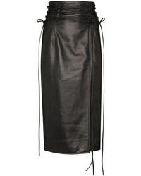 16Arlington リボン ペンシルスカート - ブラック