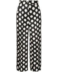 Dice Kayek High-waisted Polka Dot Trousers - Black
