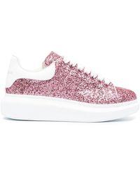 Alexander McQueen - Sneakers Met Glitter - Lyst