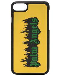 Palm Angels Burning Logo Iphone 7 Case - Yellow