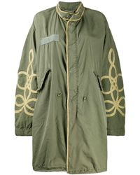 R13 - Embroidered Parka Coat - Lyst