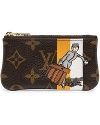 Louis Vuitton Кошелек Для Монет Pochette Cles 2006-го Года - Коричневый