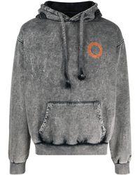 Paura Logo Print Hoodie - Grey