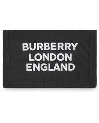 Burberry Portemonnee Met Logoprint - Zwart