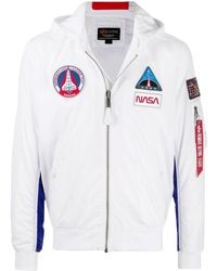 Alpha Industries Ma-1 Tt Nasa Hooded Jacket - White
