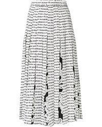 Diane von Furstenberg プリーツスカート - ホワイト