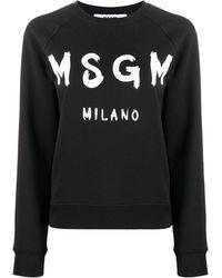 MSGM Толстовка С Логотипом И Рукавами Реглан - Черный