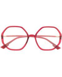 Dior Bril Met Zeshoekig Montuur - Rood
