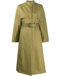 Ferragamo Belted Trench Coat - Green