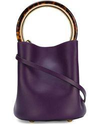 Marni Mini Pannier Tote - Purple