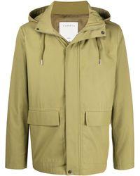 Sandro Hooded Deck Jacket - Green