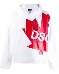 DSquared² - Logo Drawstring Hoodie - Lyst