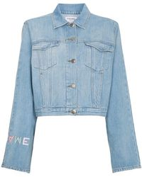 FRAME - Giacca denim 'Le Embroidery' - Lyst