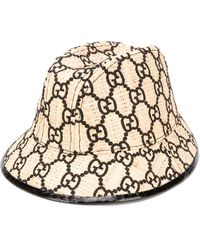Gucci Sombrero de pescador con logo GG - Negro