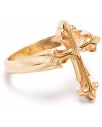 Emanuele Bicocchi Fleury Cross Ring - Mettallic
