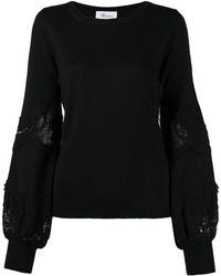 Blumarine レースインサート セーター - ブラック
