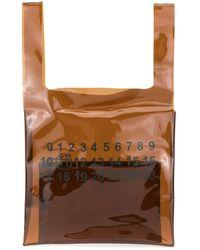 Maison Margiela Transparent Shopping Bag - Brown