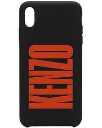 KENZO Logo Print Iphone Xs Max Case - Black