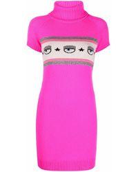 Chiara Ferragni ロゴ ニットドレス - ピンク