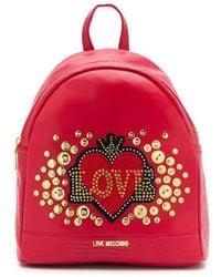 Love Moschino Rugzak Met Hart Logo - Rood