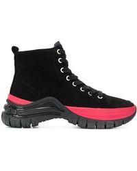 Calvin Klein パネル レースアップ ブーツ - ブラック