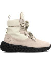 Giuseppe Zanotti Urchin High-top Sneakers - Gray