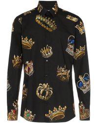 Dolce & Gabbana - Chemise à imprimé graphique - Lyst