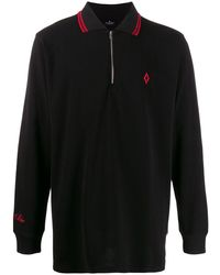 Marcelo Burlon Cross Polo L/s Black Red - ブラック
