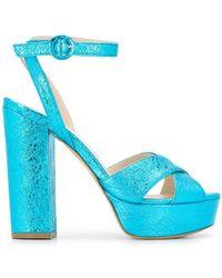 P.A.R.O.S.H. Cathy Platform Sandals - Blue