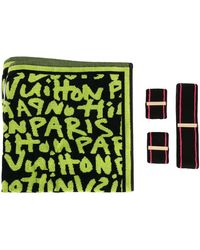 Louis Vuitton X Stephen Sprouse Pre-owned Graffiti Three-band And Towel Set - Black