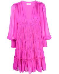 Sandro Dyane Flared Dress - Pink