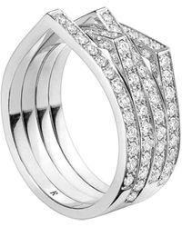 Repossi Bague Antifer en or blanc 18ct et diamants - Métallisé