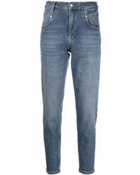 Calvin Klein ミッドライズ クロップドジーンズ - ブルー