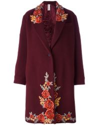 Antonio Marras - Embroidered Single Breasted Coat - Lyst