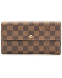Louis Vuitton Portafoglio continental Sara Pre-owned - Marrone