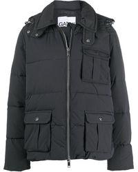 Ganni パデッドジャケット - ブラック