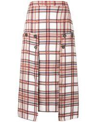 ROKH Plaid Print Pencil Skirt - Multicolor