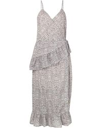 Suboo フリル ラップドレス - マルチカラー