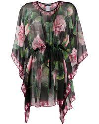 Dolce & Gabbana Tropical Rose ブラウス - ブラック